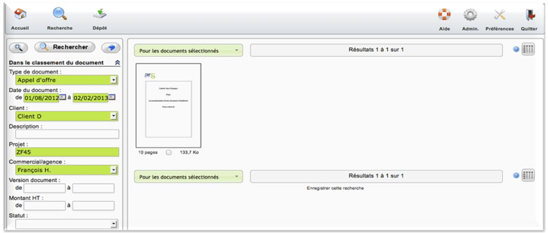 Recherche puissante de documents avec Zeendoc