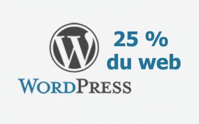 WordPress fait tourner un site web sur quatre dans le monde