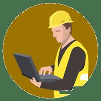 Ouvrier PC sur chantier
