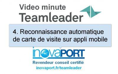 Reconnaissance automatique de carte de visite depuis l'application mobile