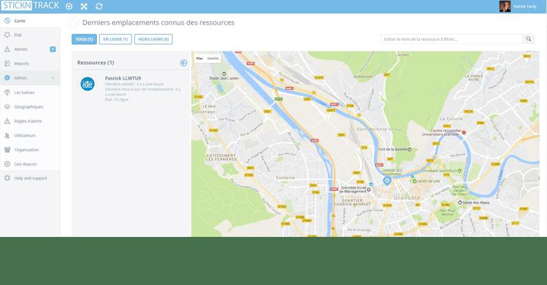 Positions des trackers en temps réel