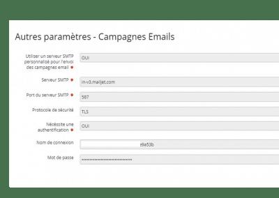 Nelis - Parametrage relais SMTP pour envoi par Mailjet