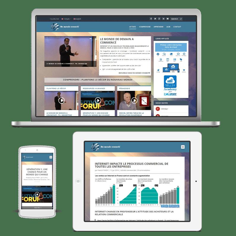 Un monde connecte magazine web