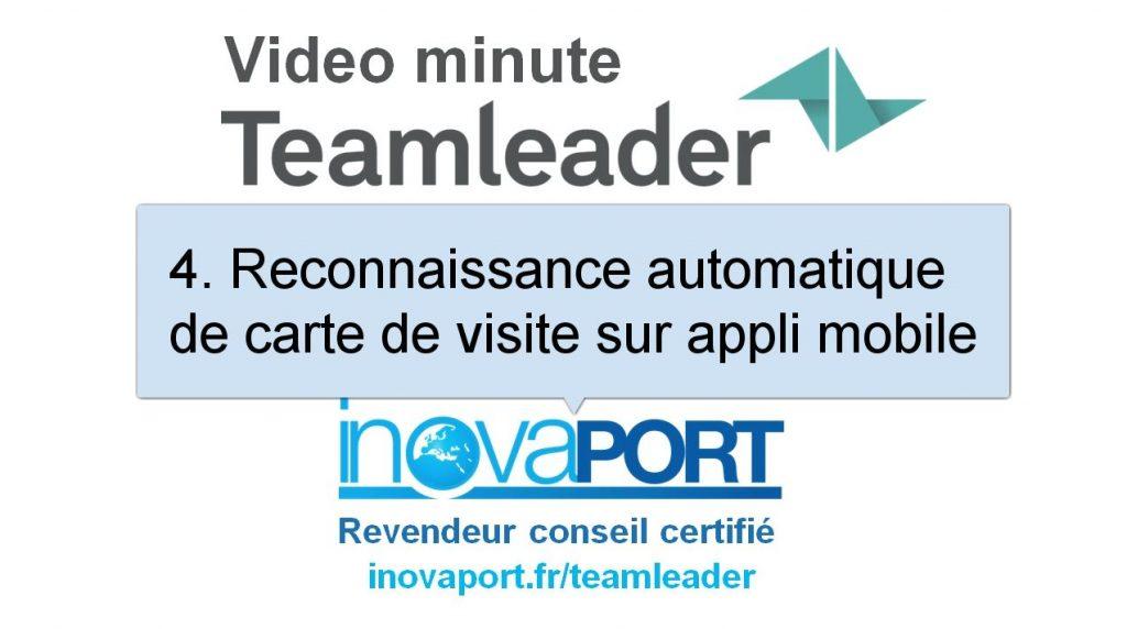 Reconnaissance automatique de carte de visite srr smartphone avec Teamleader