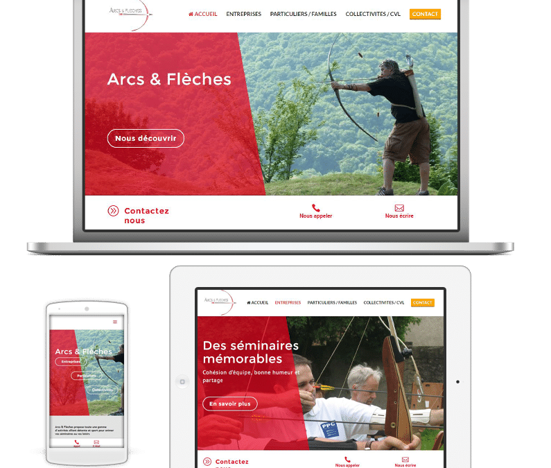 Arcs et Flèches fait confiance à Inovaport pour renouveler son site web