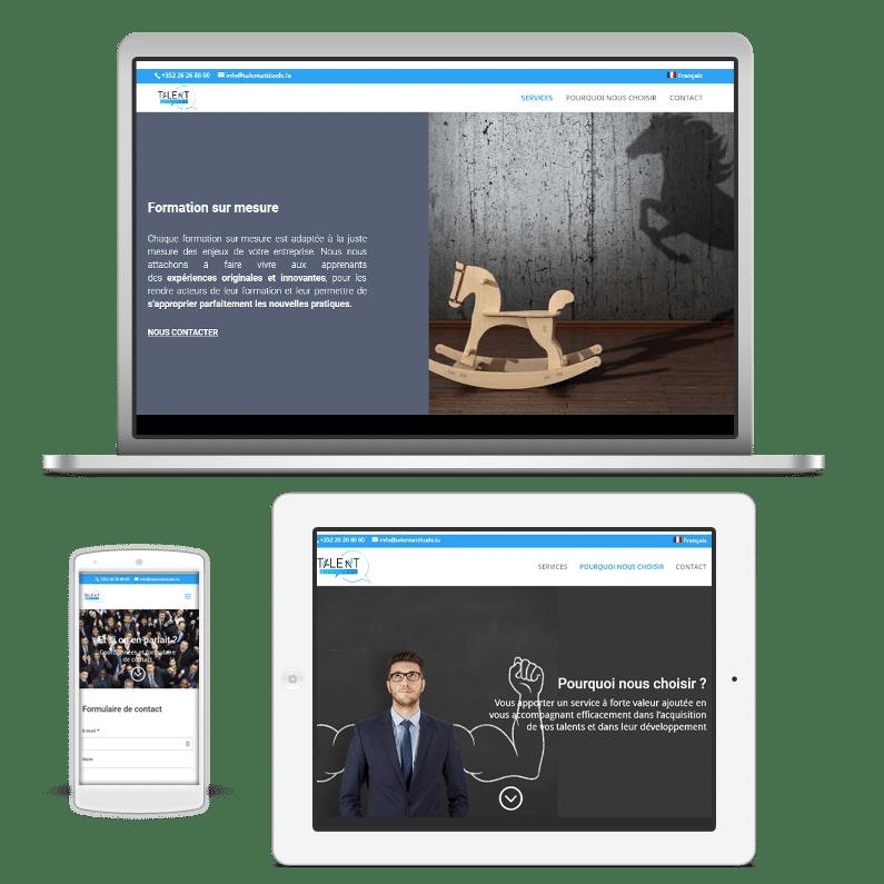 Site web Talent Attitude fait avec Divi pour WordPress en mode responsive