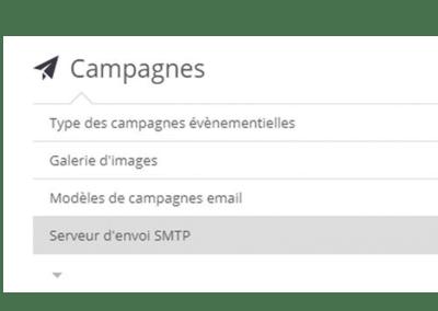Nelis - Reglages serveur SMTP pour campagnes